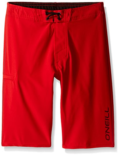 O'Neill Little Boys Hyperfreak Solid Boardshort, Red, 7X