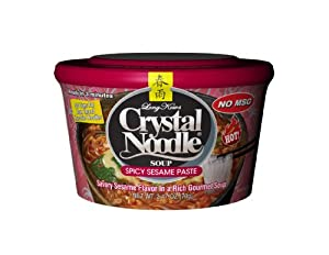 Crystal Noodle Spicy Sesame Paste 247 Ounce Cardboard Cup Pack Of 6 from Crystal Noodle