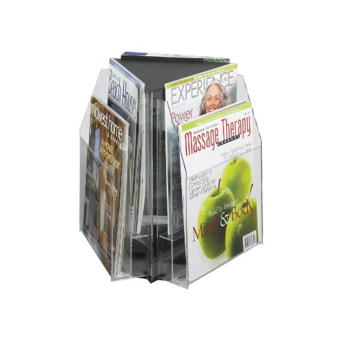 Safco Products - Reveal™ 6 Magazine Tabletop Displays - 5698CL - Color: Clear - Dimensions: 15