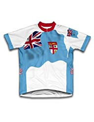Fiji Flag Short Sleeve Cycling Jersey for Women