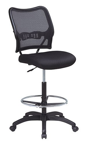 Office Star Air Grid Back Mesh Seat Drafting Chair With Built In Lumbar
