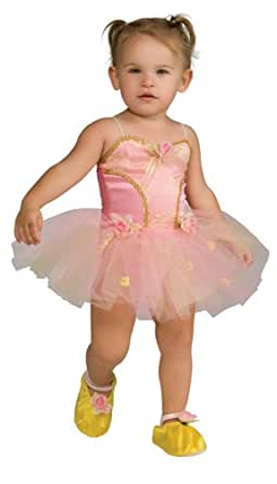 Child's Pink Rose Ballerina Dress Up Costume - Small