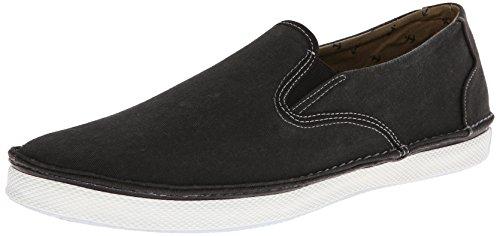 Sperry Top-Sider Men's Cruz Slip On Boating Shoe,Black Salt Wash,8 M US