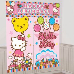 Sanrio - Hello Kitty Balloon Dreams Scene Setter Decoration Set