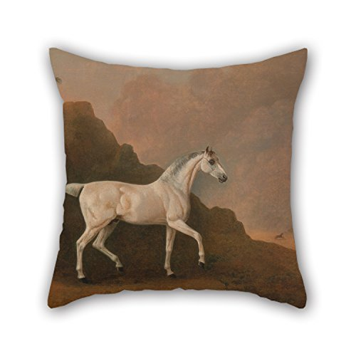 Uloveme 18 X 18 Inches / 45 By 45 Cm Oil Painting John Boultbee - A Grey Arab Stallion In