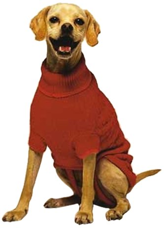Fashion Pet Classic Cable Dog Sweater, Red, Large