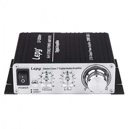 Review Of [New Version]Deeteck Lepy LP-2024A+ Class-T Hi-Fi Audio Amplifier with 3A Power Supply Bla...