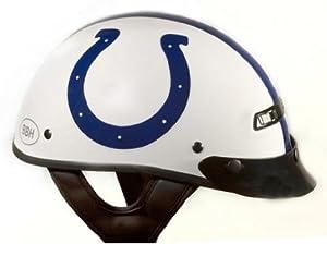 Brogies Bikewear NFL Indianapolis Colts Motorcycle Half Helmet (White, Large) by Brogies Bikewear