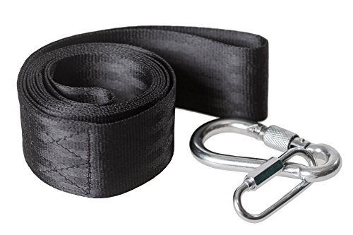 buy 59 Inch Long Tree Swing Strap Kit with Extra Durable Steel Screw Locking Carabiner & Special Joint Piece - One Hanger set holds 810 lbs for sale