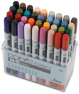 Copic Ciao Double Ended Markers - Set D Of 36 Markers