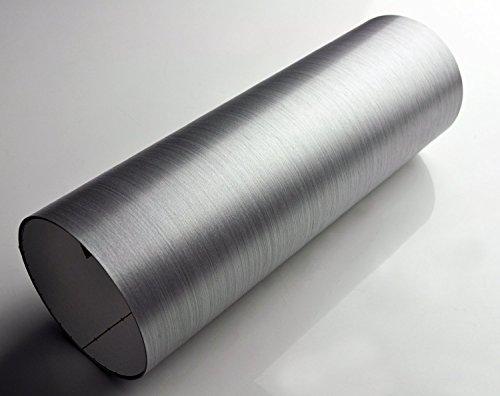 3M ダイノック リアル カーボンフィルム シール ステッカー ME-1435 ヘアライン シルバー/銀 (1m x 30cm) 高品質ハイグレード 3D