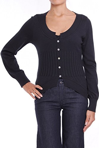 ANTA Q'ULQI - Cardigan a maglia in cotone Tanguis DANNA - nero, XL