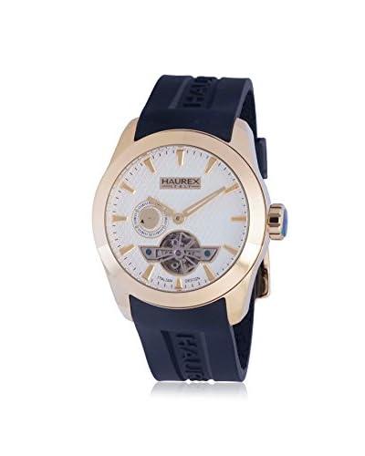 Haurex Men's CY501USN Magister Auto Black/Silver Silicone Watch