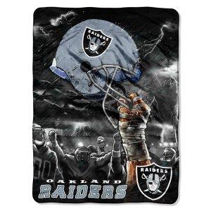 Oakland Raiders 60x80 Royal Plush Raschel Throw Blanket - Sky Helmet Style by Unknown