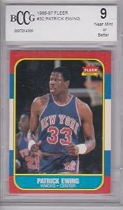 Buy 1986-87 Fleer Patrick Ewing Rookie Card BCCG 9 by Fleer