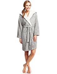 Tatty Teddy Bear Shawl Collar Wrap Dressing Gown