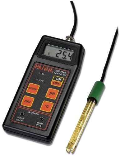 Hanna Instruments HI 8314 Portable Analog pH/ORP/Temperature Meter, with Pre-Amplified pH Electrode