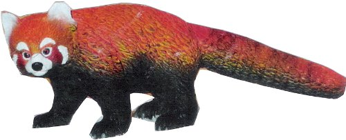 Phil Seltzer Red Panda-Lifelike Rubber Replica, 5.5""