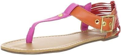 Madden Girl Women's Anzwer Ankle-Strap Sandal,Pink Multi,10 M US
