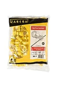 Zareba IRY-Z Screw-on Insulator, Yellow, 25 per Bag