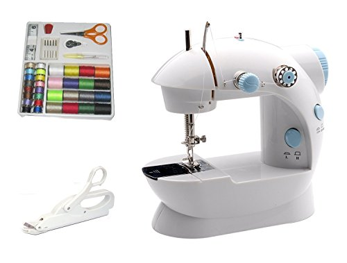 Michley Lil' Sew & Sew LSS-202 Combo Mini Sewing Machine, Electrical Scissors and 42-Piece Sewing Kit (Michley Lil Sew And Sew Bobbins compare prices)