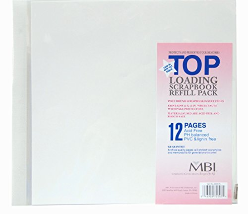 MBI by MCS 12-Inch by 12-Inch Scrapbook Expansion Pages, 6 sheet Count, 12 pages