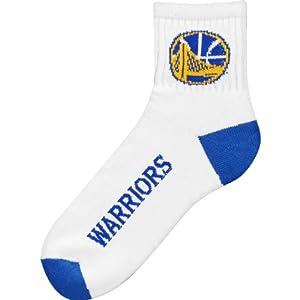 Golden State Warriors Team Logo Quarter Sock by For Bare Feet