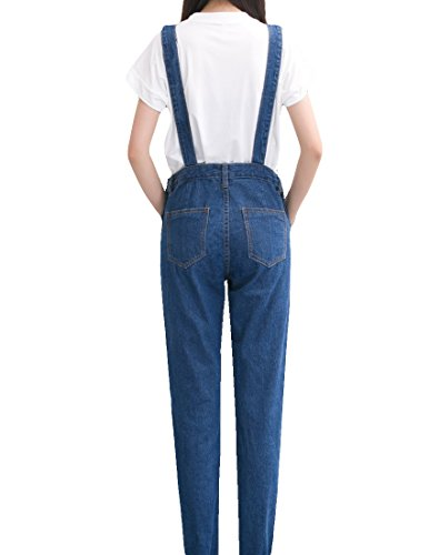 MFrannie Vintage Washed Ripped Slim Boyfriend Style Overall Pant 3