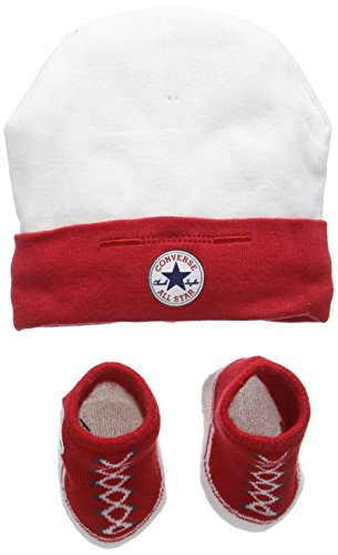 converse-unisex-baby-hat-and-bootie-plain-clothing-set-multicoloured-red-0-6-months