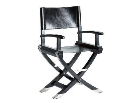 Artisanti Black Leather Directors Chair