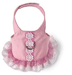 Doggles Dog Harness Dress, Pink, Extra Small