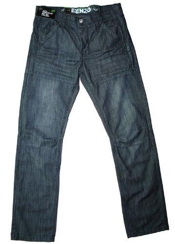 Enzo men's ez54 regular fit darkwash jean, 30W 30L