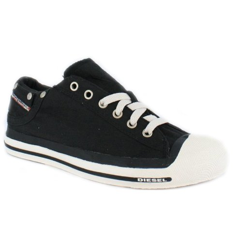 Diesel Exposure Low Toe Capped Canvas Trainers Black 43