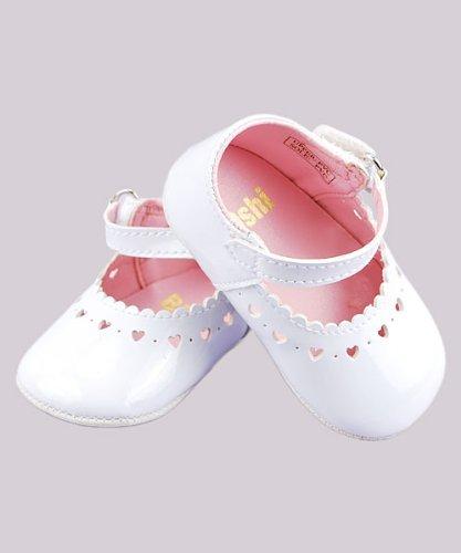 Big Oshi Mary Jane Baby Shoes (Infant Girls Sizes 0 - 4) - white, 4