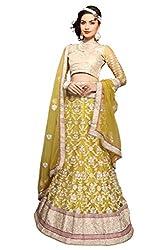 Silvermoon women's Net Embroidered heavy lehenga choli-sm_MIKLA61D_Lemon yellow_free size
