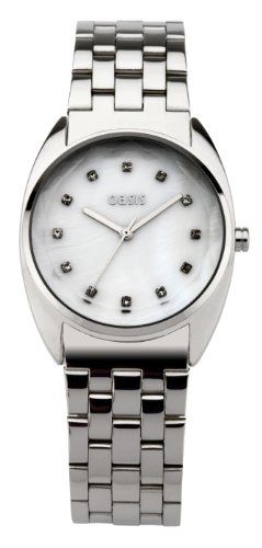 Oasis Women's Quartz Watch with Mother of Pearl Dial Analogue Display and Silver Bracelet B918