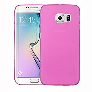 Galaxy S6 Edge+ Back cover, PP [0.35mm] Ultra-Thin / Slim [ Perfect Fit ] Thinnest Hard Protect Case Back Cover Bumper [ Semi-transparent ] Lightweight for Samsung Galaxy S6 Edge+ (Pink)