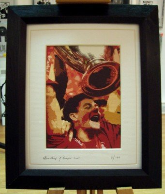 Steven Gerrard Liverpool Limited Edition Framed Art