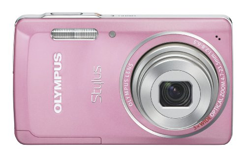Olympus Stylus 5010 14 MP Digital Camera with 5x Wide Angle Dual Image Stabilized Zoom and 2.7-inch LCD (Pink)