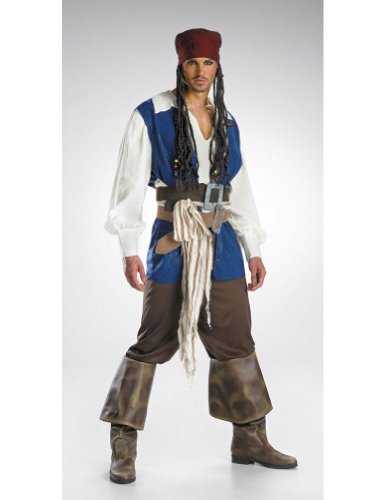 Disney Adult Jack Sparrow Quality Costume Halloween Costume