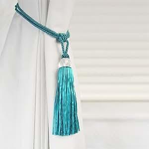 Amazon Com Crystal Beaded Tiebacks Tassel Curtain Tie