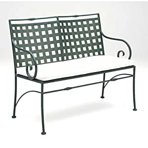 Sheffield Wrought Iron Garden Bench Finish: Aged Green