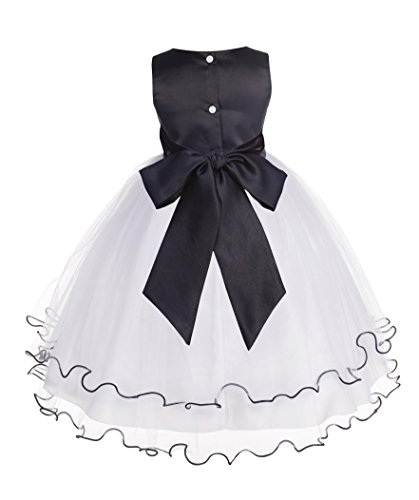 Wedding Pageant Butterflies Rattail Edge Flower Girl Dress 801S