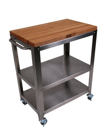 John Boos Culinarte Stainless Steel Kitchen Cart With 30