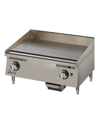 "Star Mfg Ultra-Max 24"" Chrome Gas Griddle"