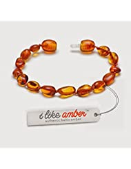 PREMIUM Amber Bracelet / Anklet - Extra Safe - Best Baltic Amber Quality on Amazon - Size from 13 to 19 cm - 100...