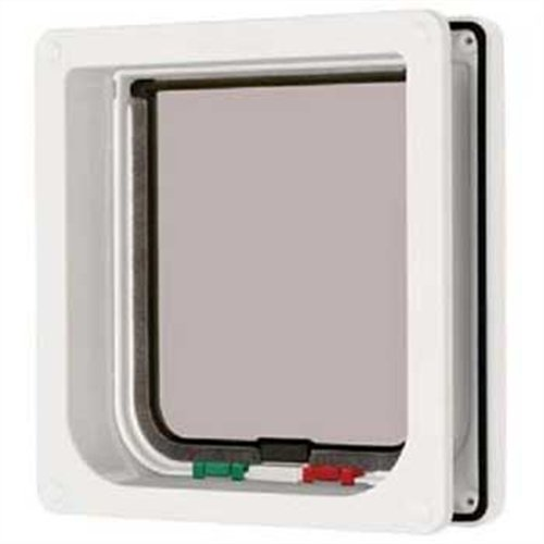 Petmate 4-Way Locking Cat Flap with Door Liner - White