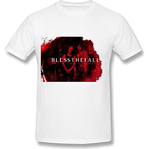 Fly&Tian Men's Blessthefall Band T-shirt