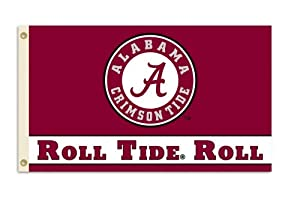 Buy NCAA Alabama Crimson Tide 3-by-5 Foot Roll Tide Flag With Grommets by BSI
