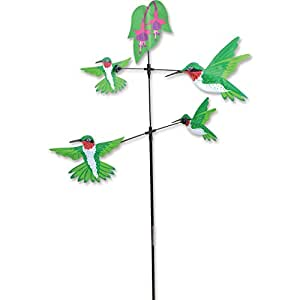 Hummingbirds carousel spinner garden stake for Garden spinners premier designs